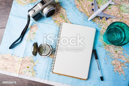 istock Travelling tools 489556478