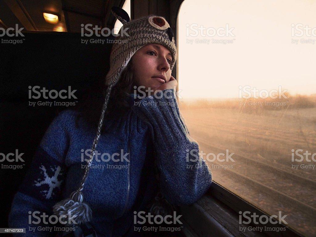 Travelling toward the light stock photo