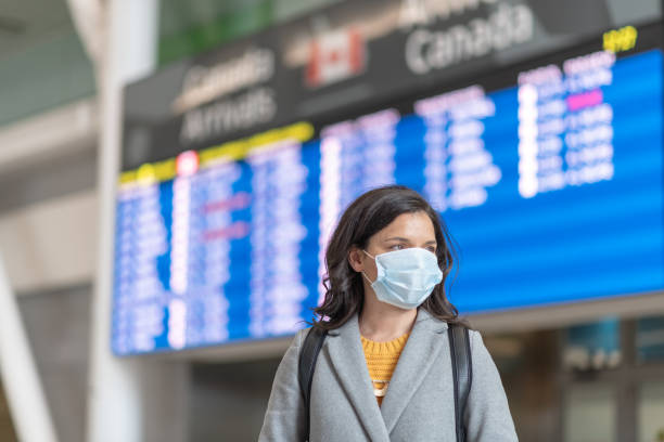 travels bans during the pandemic - covid flight imagens e fotografias de stock