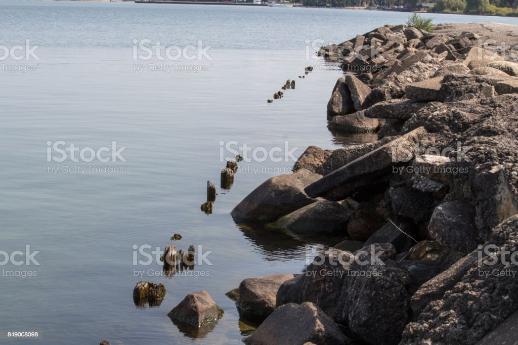 Traverse City end of summer stock photo