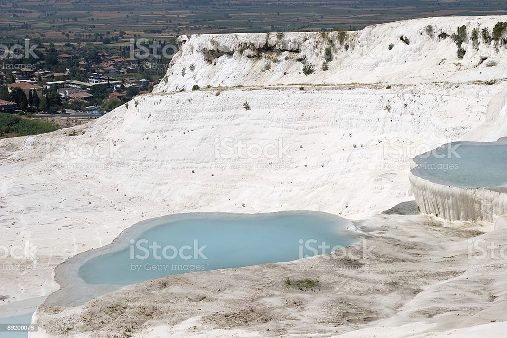Travertine pools and terraces - Pamukkale royalty-free stock photo