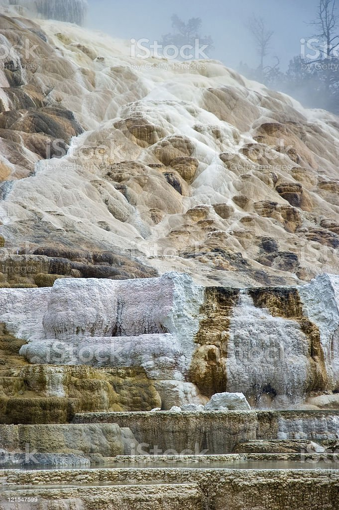 Travertine terraces stock photo