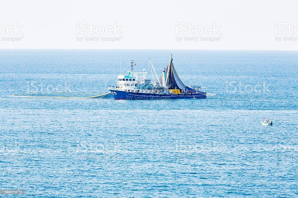 Trawl Fishing Net stock photo