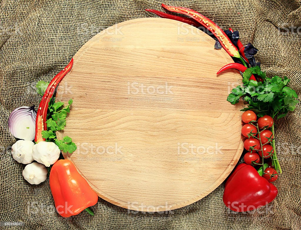 tray for pizza with vegetables stock photo
