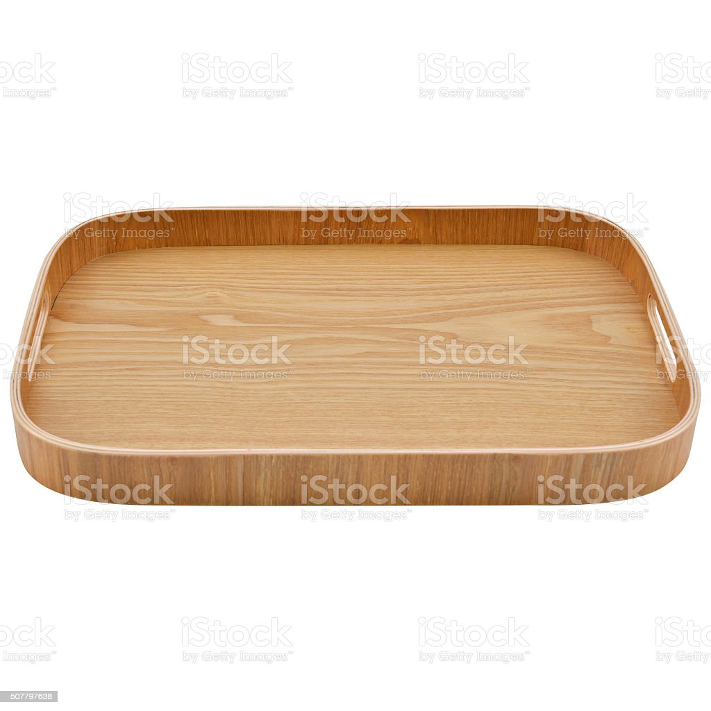 Tray for serving stock photo