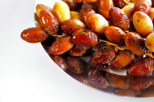 Tray of Arabic dates