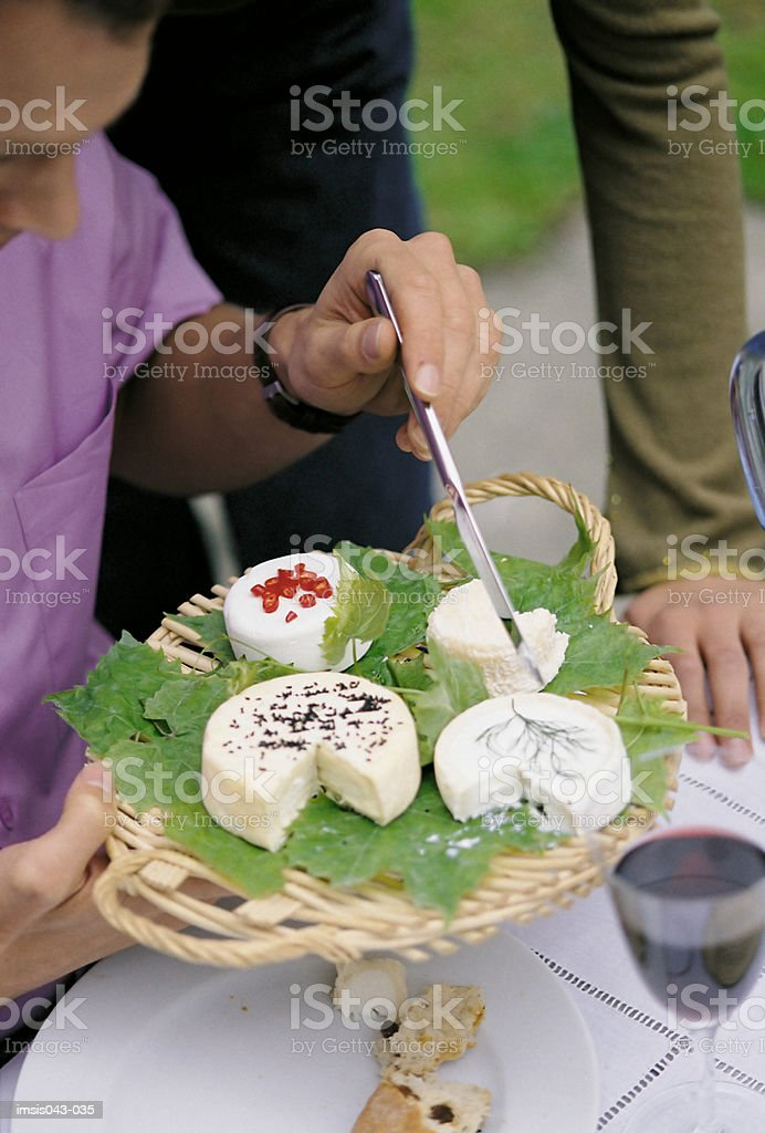 Tray of cheese royalty-free 스톡 사진