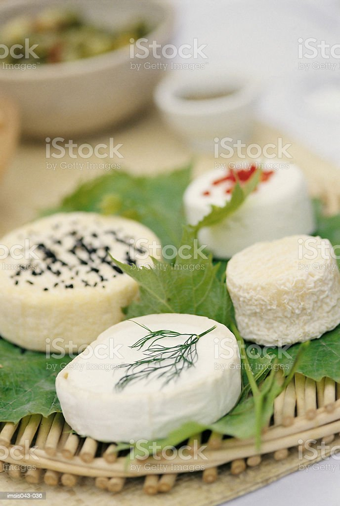 Tray of cheese royalty-free stock photo