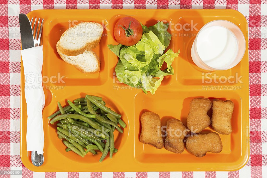 Tray of food stock photo