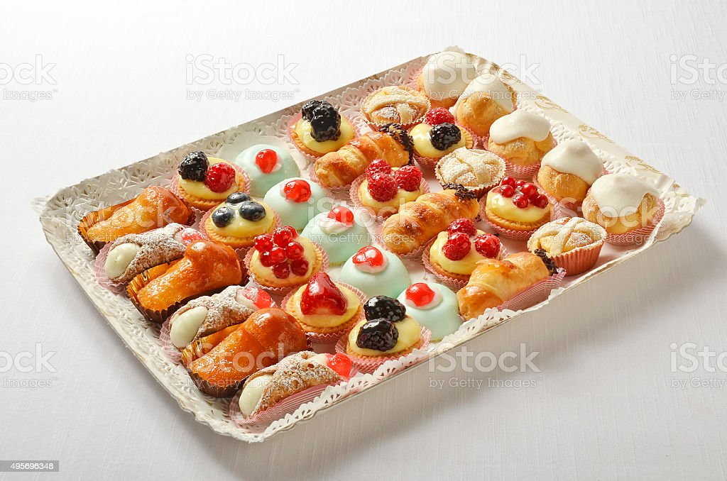 Tray of Pastries stock photo