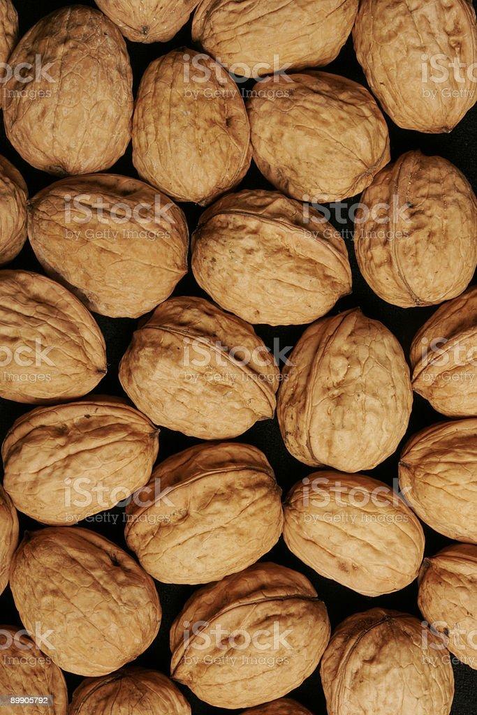 Tablett mit Walnüssen Lizenzfreies stock-foto