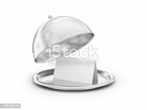 istock Tray with blank card 476435151