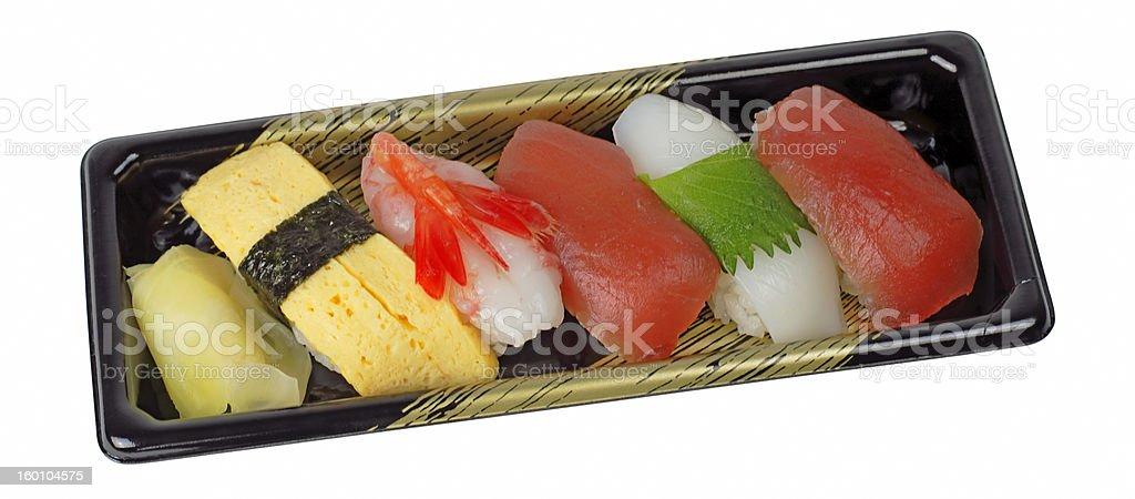Tray with sushi royalty-free stock photo