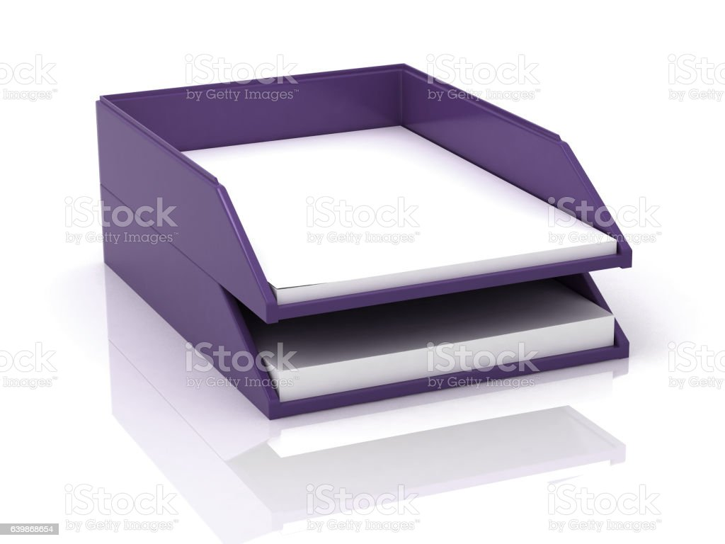 Trays for papers stock photo