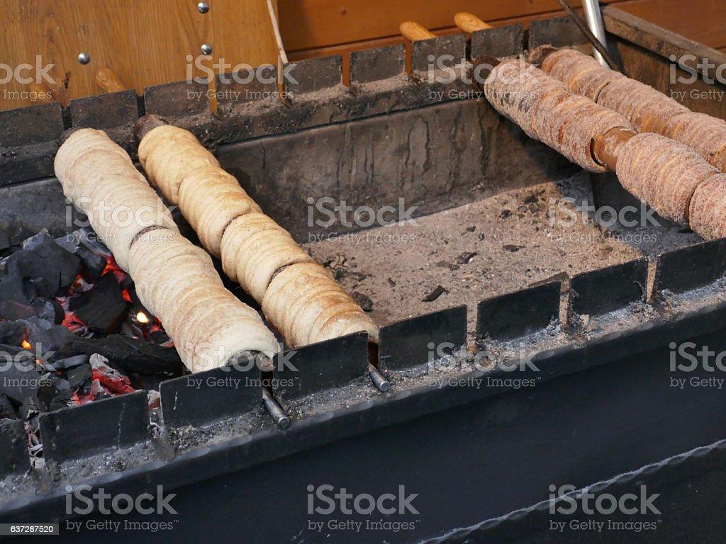 Trdelnik sweet pastry stock photo