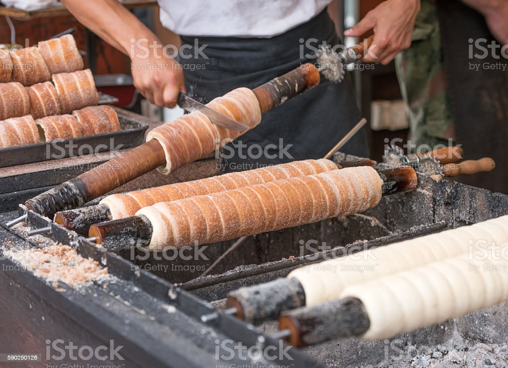 Trdelník, Prague, Czech Republic stock photo