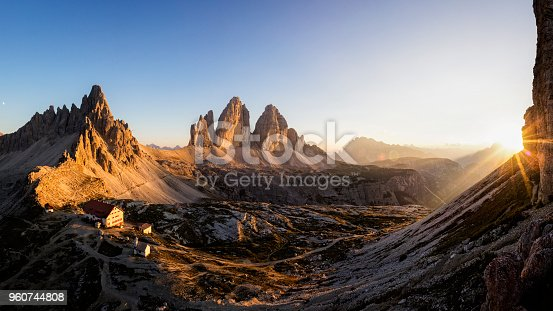 Dolomites, Tre Cime Di Lavaredo, Mountain, Sunrise, Mountain Range