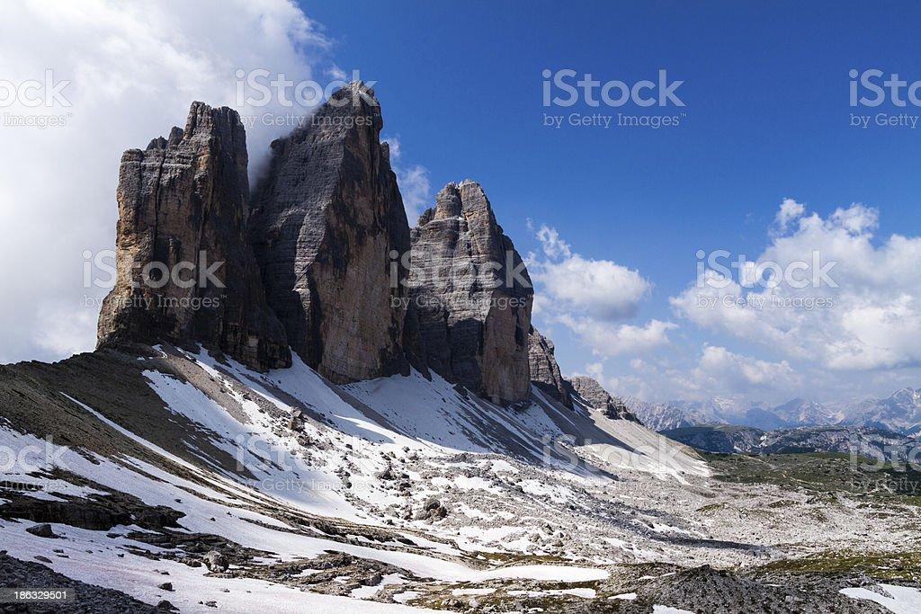 Tre Cime di Lavaredo, Dolomites, Italy royalty-free stock photo
