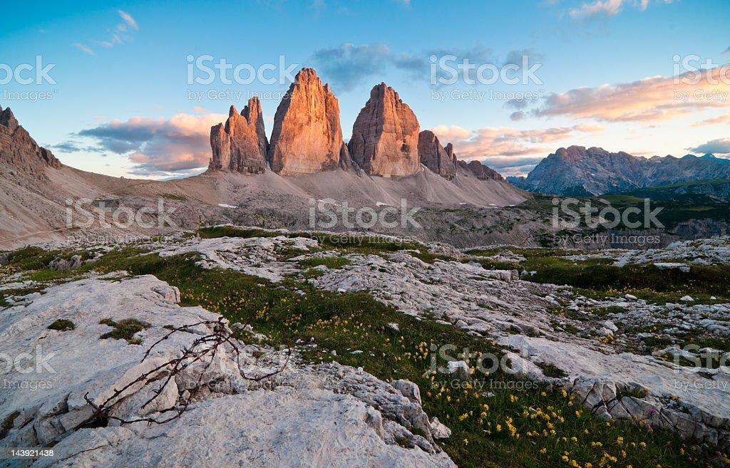 Tre Cime di Lavaredo - Drei Zinnen stock photo
