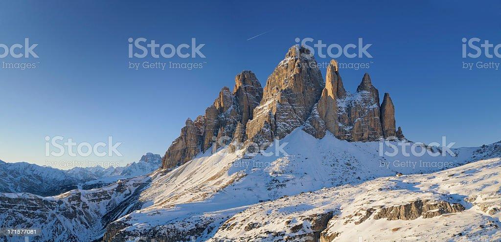 Tre Cime Di Lavaredo (Dolomites - Italy) stock photo