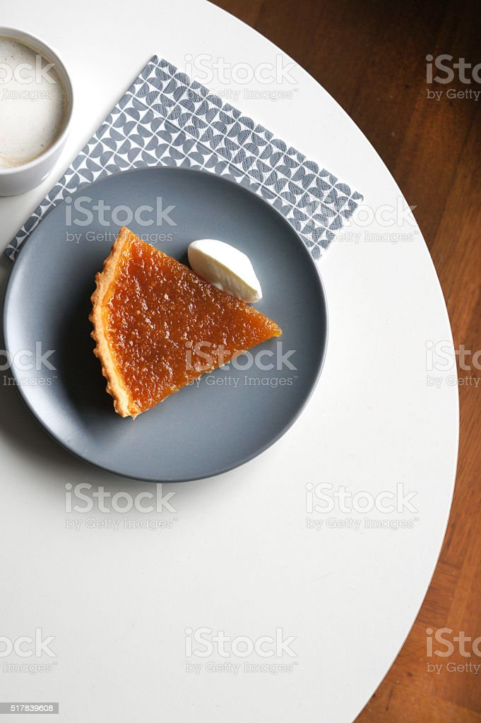 Treacle tart stock photo