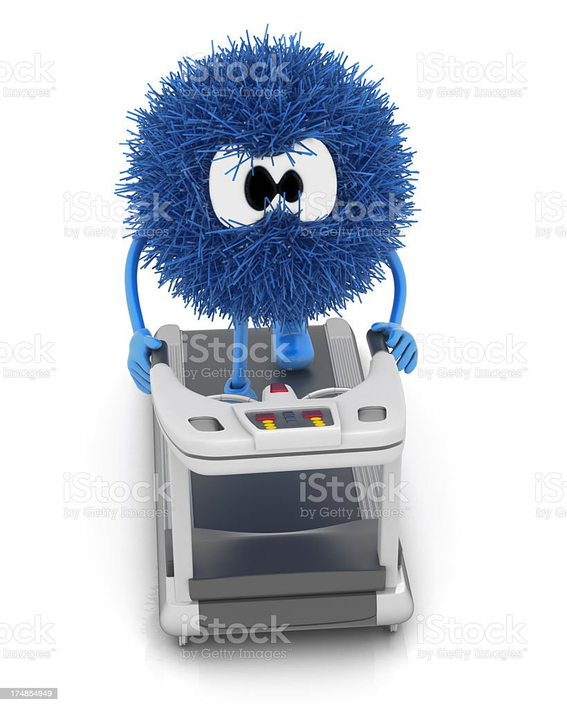 Treadmill and Sphefur royalty-free stock photo
