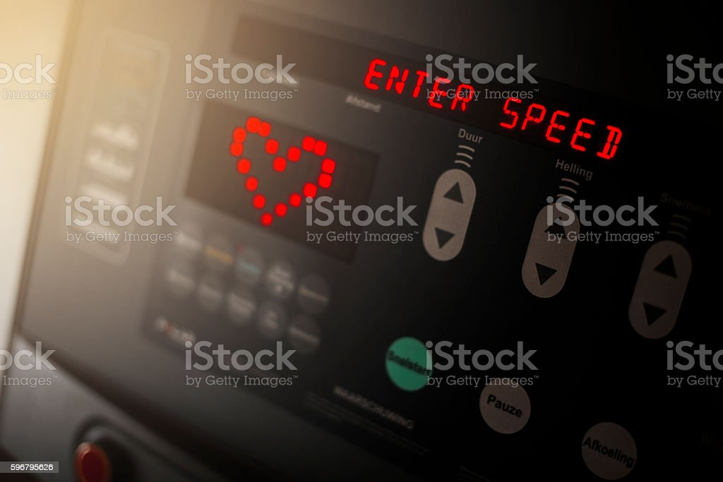 Treadmill Detail stock photo