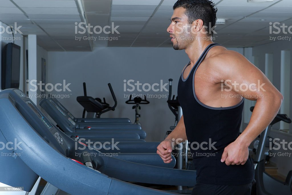 Treadmill Exercise royalty-free stock photo