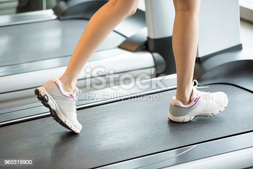 Treadmill Exercise Stock Photo & More Pictures of Adult