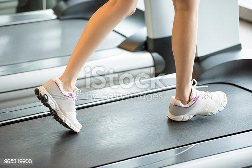 Treadmill Exercise - Stockowe zdjęcia i więcej obrazów Biegaczka