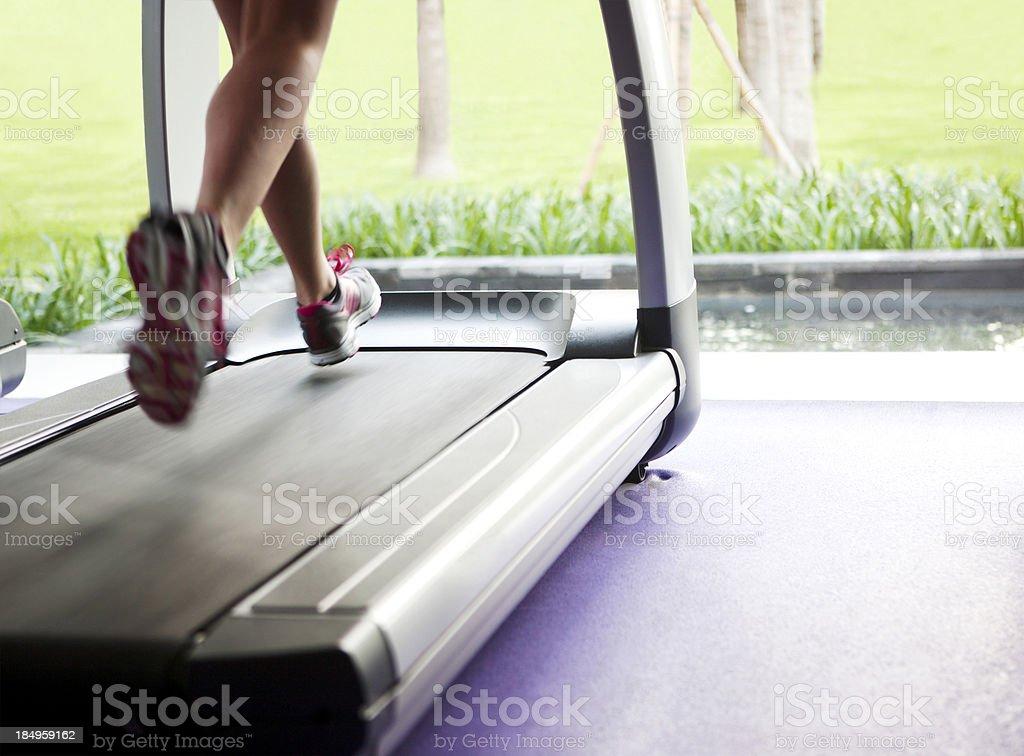 Treadmill royalty-free stock photo