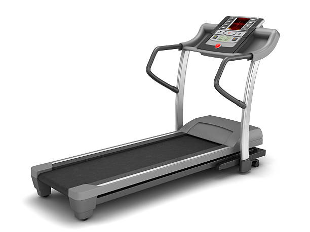 Treadmill Treadmill isolated on white.Similar images: exercise machine stock pictures, royalty-free photos & images