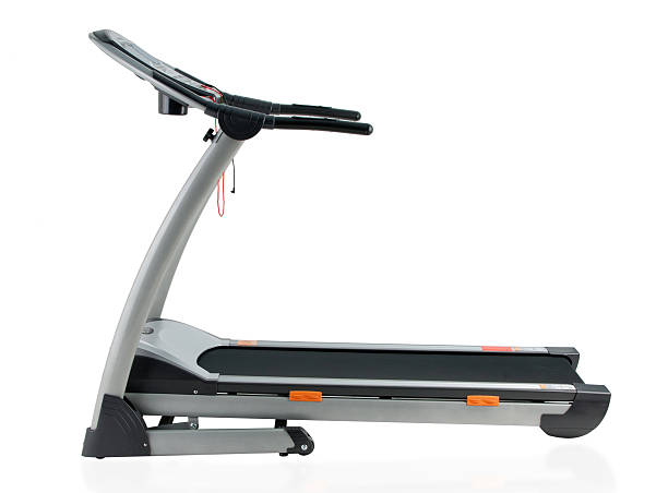 Treadmill the exercise tool isolated on white stock photo