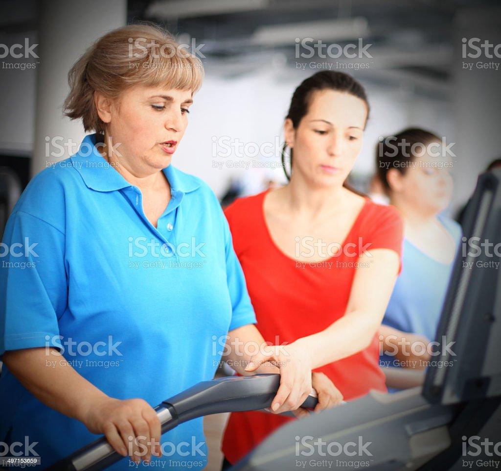 Treadmill workout. stock photo