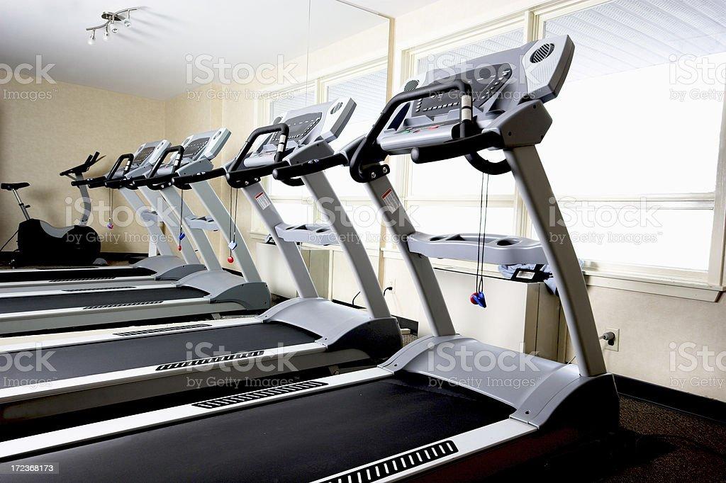 Treadmills royalty-free stock photo