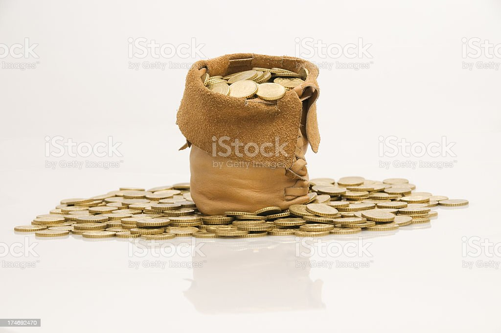 Treasure bag royalty-free stock photo
