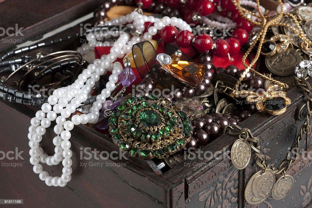 Treasure chest  background royalty-free stock photo