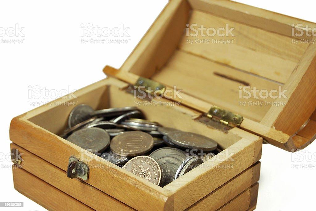 Cofre del tesoro-trazado de recorte foto de stock libre de derechos