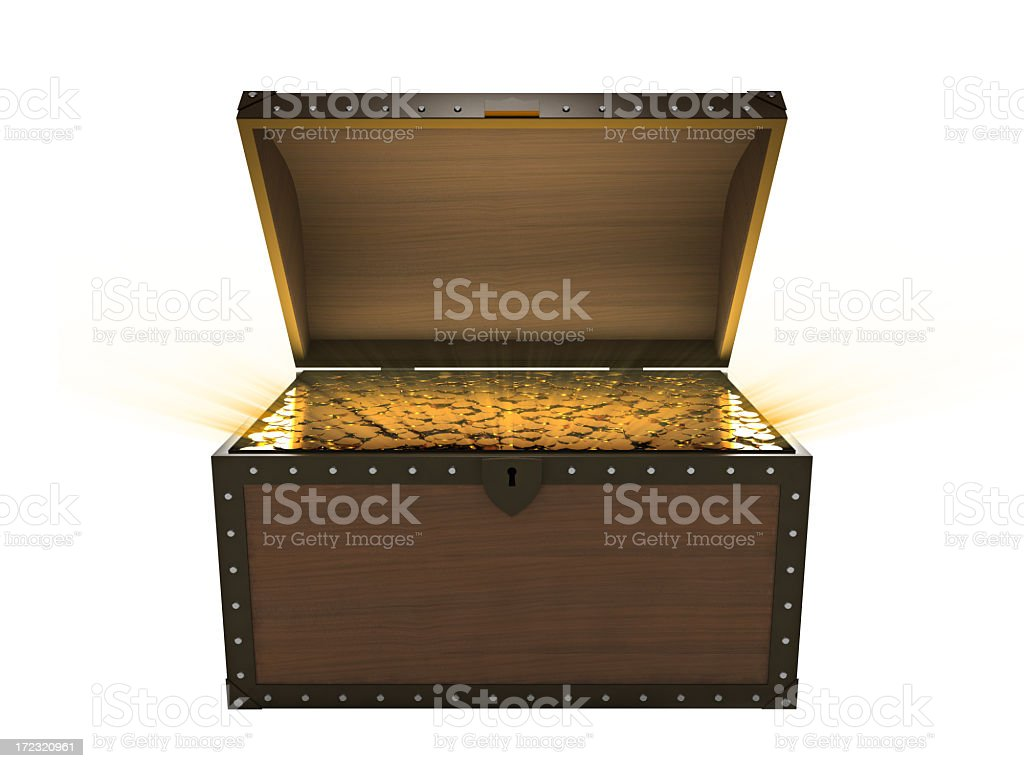 Treasure Chest II (Isolated) royalty-free stock photo