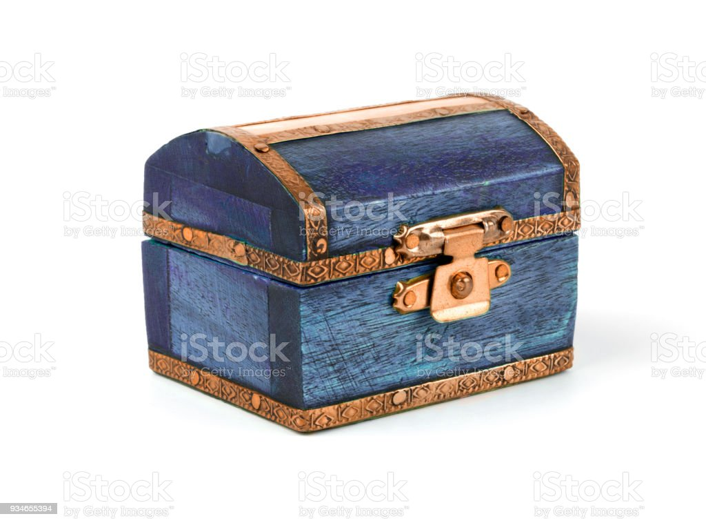 treasure chest isolated on white stock photo more pictures of box