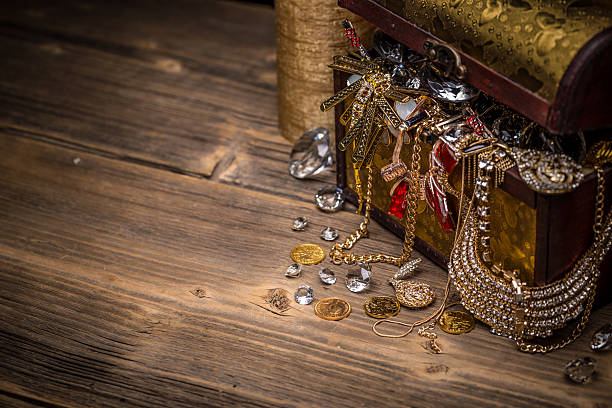 treasure chest - pirates stock photos and pictures