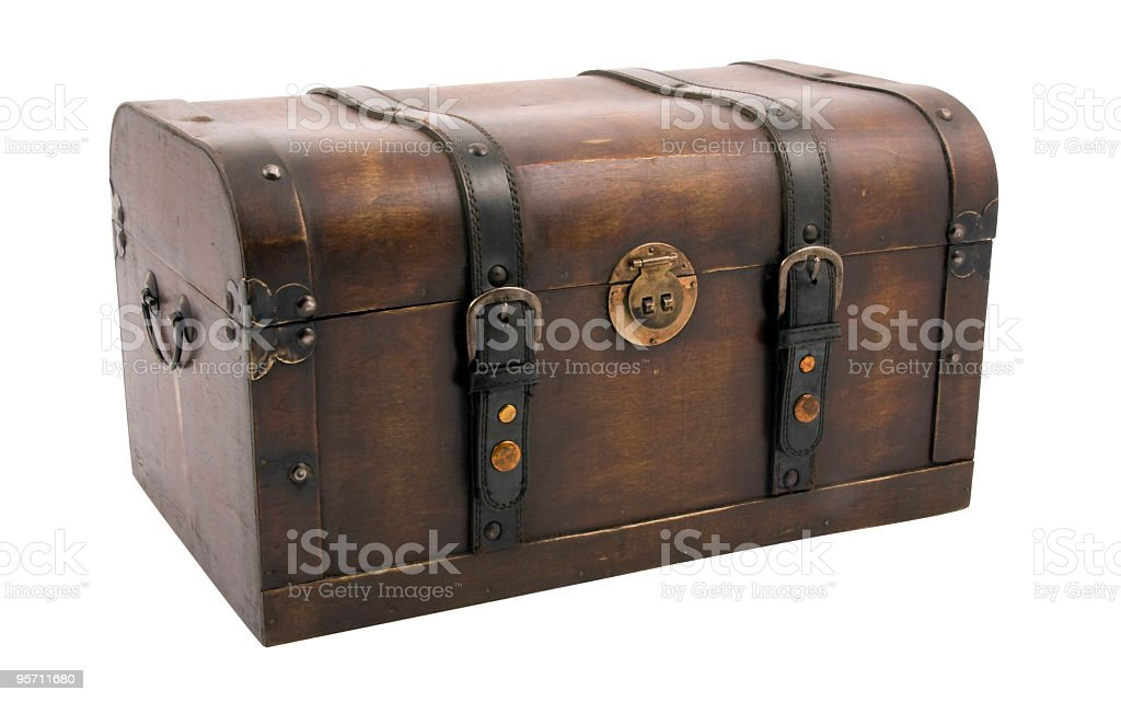 Treasure chest with clipping path royalty-free stock photo