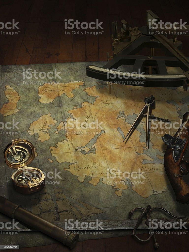 Treasure Hunting royalty-free stock photo