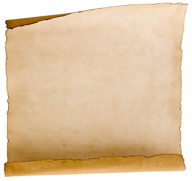 Treasure map paper stock photo