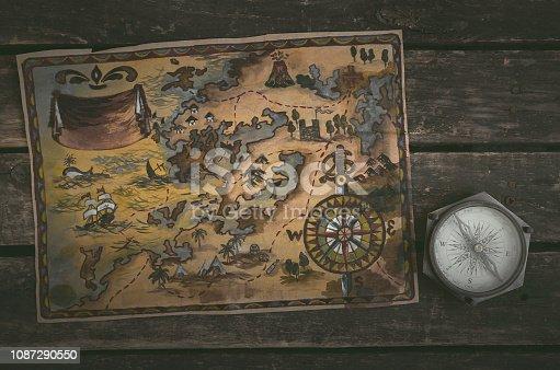 istock Treasure map. 1087290550