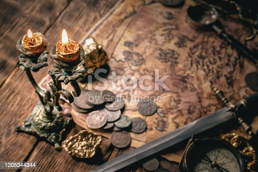 istock Treasure map. 1205344344