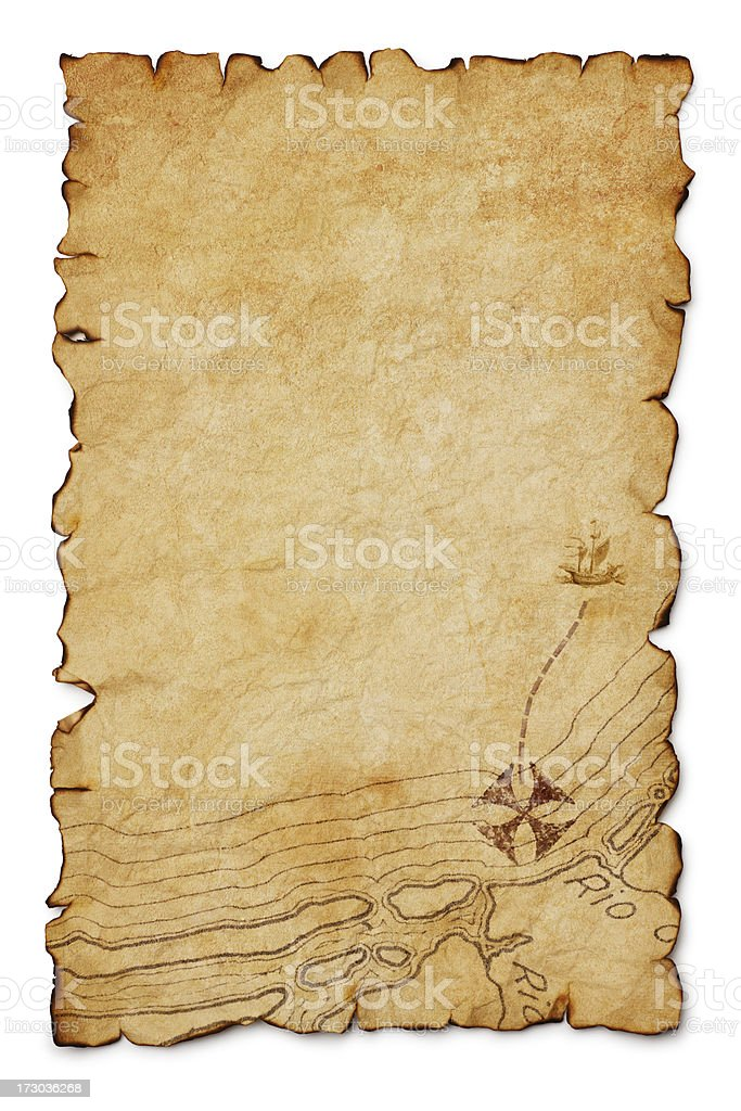Treasure Map royalty-free stock photo