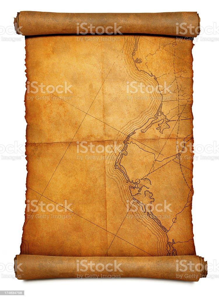 Treasure Map royalty-free stock photo
