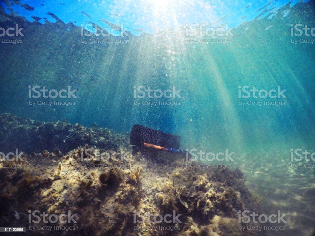 Treasure underwater stock photo