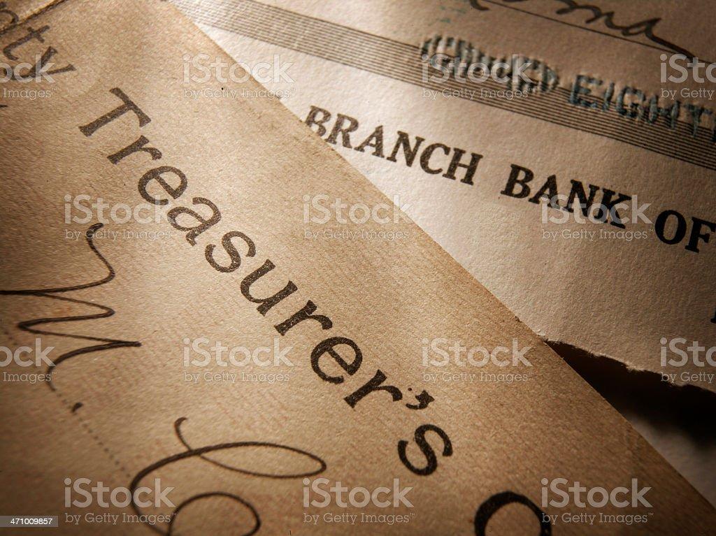 Treasurer/Bank Documents royalty-free stock photo